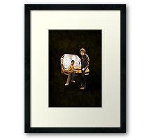 Arnold & Michael Framed Print