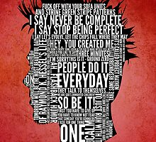 Typography Tyler Durden Uncensored by Adam Grey