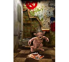 The Toilet Monster Photographic Print