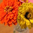 Zinnia bunch by AbigailJoy