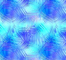 Soft Blue Patterned Glass by pjwuebker