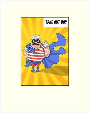 Superhero  'Take Out Boy' by Creative Spectator