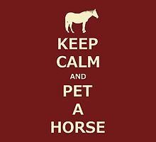 Keep Calm and Pet A Horse iPhone and iPod Cases by Patricia Barmatz