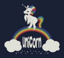 Cute Unicorn Standing on Rainbow by anertek