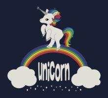 Cute Unicorn Standing on Rainbow by anertek