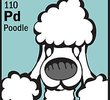 Poodle - The Dog Table by Angry Squirrel Studio