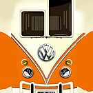 Orange Volkswagen VW with chrome logo iphone 4 4s, iPhone 3Gs, iPod Touch 4g case by www. pointsalestore.com
