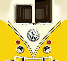 Yellow Volkswagen VW with chrome logo iphone 5, iphone 4 4s, iPhone 3Gs, iPod Touch 4g case by pointsalestore Corps