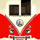Red Volkswagen VW with chrome logo iphone 5, iphone 4 4s, iPhone 3Gs, iPod Touch 4g case by Pointsale store.com