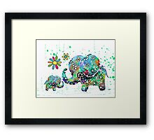 blooming elephants Framed Print