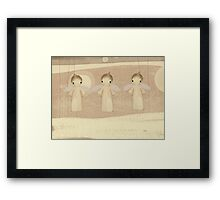 three little angels Framed Print