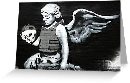 Banksy - Angel holding skull by MooseGeneral