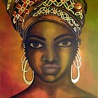 Asase Yaa - Original Painting by Mara Diop by Maradiop
