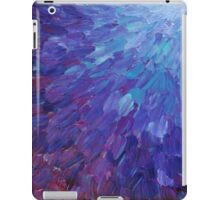 SCALES OF A DIFFERENT COLOR - Abstract Acrylic Painting Eggplant Sea Scales Ocean Waves Colorful iPad Case/Skin