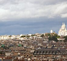 Montmartre, Paris (from Centre Pompidou) by David Mapletoft