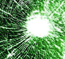Green shatter case (GLOW) by MrBliss4