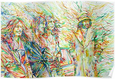 LED ZEPPELIN WATERCOLOR PORTRAIT.1 by lautir