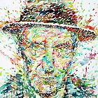 WILLIAM BURROUGHS watercolor portrait by lautir