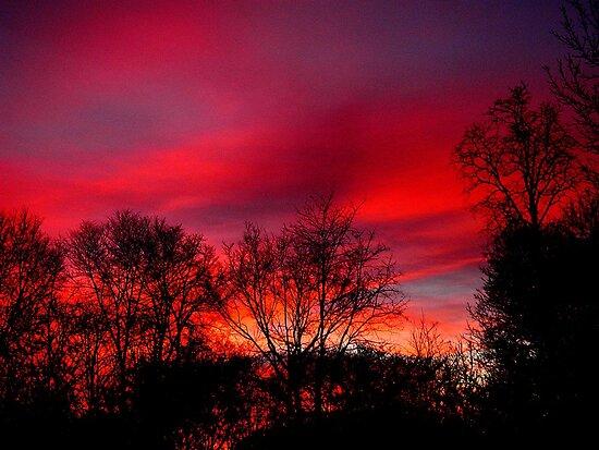 Stayed awake all night...watching the sunrise  by jammingene