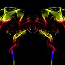 Two headed fire dragon by inkedsandra