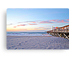 Pier At Dawn in HDR Canvas Print