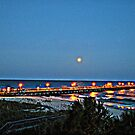 Full Moon At The Pier in HDR by ©Dawne M. Dunton