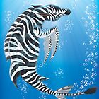 Zebra Dolphin iPad Case by Jeff Batt