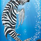 Zebra Dolphin iPhone Case by Jeff Batt