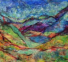 Misted Mountains by Regina Valluzzi