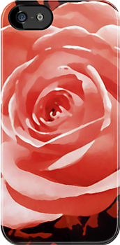 red rose flower i pod/i phone case by jenny meehan