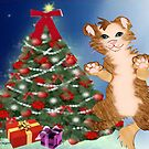 Kitty is set for Christmas  by aldona