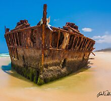 Shipwreck at Fraser Island QLD Australia by Paul Welding