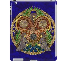 Celtic Heart with Angels and Birds iPad Case/Skin