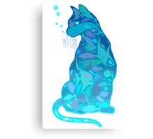 SWIM IN A CAT Canvas Print