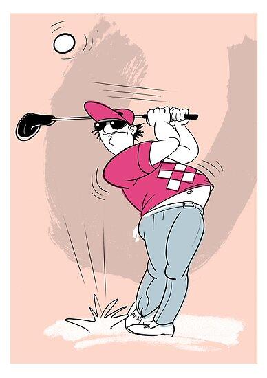 Crazy Golfer by drawgood