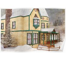 The House in a Winter Wonderland Poster