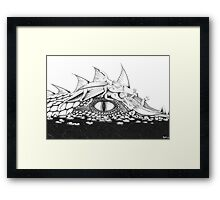 Baby Dragons with Mum Framed Print
