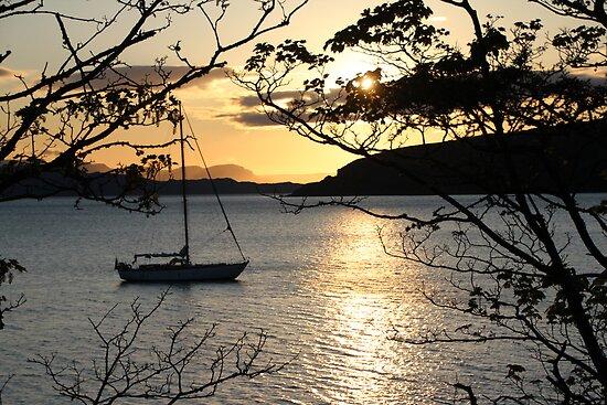Applecross sunset by Fiona MacNab