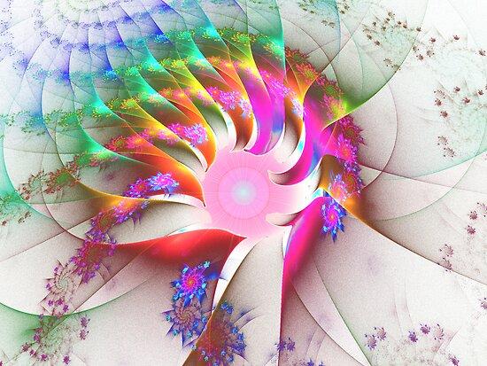 JPT#14:  Magic Eye of the Rainbow Spiral Dragon  (G0974) by barrowda