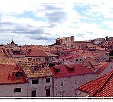 Overlooking Dubrovnik, Croatia by christazuber
