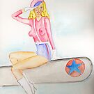 The American Bomber Girl PIN UP  by Anne Gitto