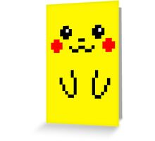 Pikachu Face 8bit Greeting Card
