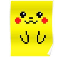 Pikachu Face 8bit Poster
