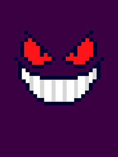 Gengar Face 8bit by soulthrow