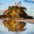 Reflecting on The Pass at Byron Bay by Cheryl Styles