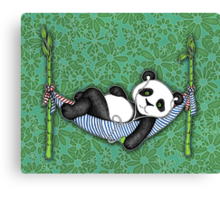 iPod Panda Canvas Print