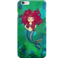 Mermaids have bad hair days, too. iPhone Case/Skin