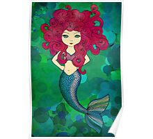 Mermaids have bad hair days, too. Poster