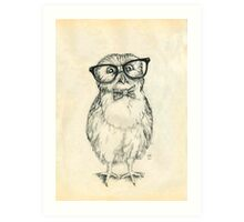 Nerdy Owlet Art Print