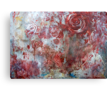 When Roses Bleed... Canvas Print